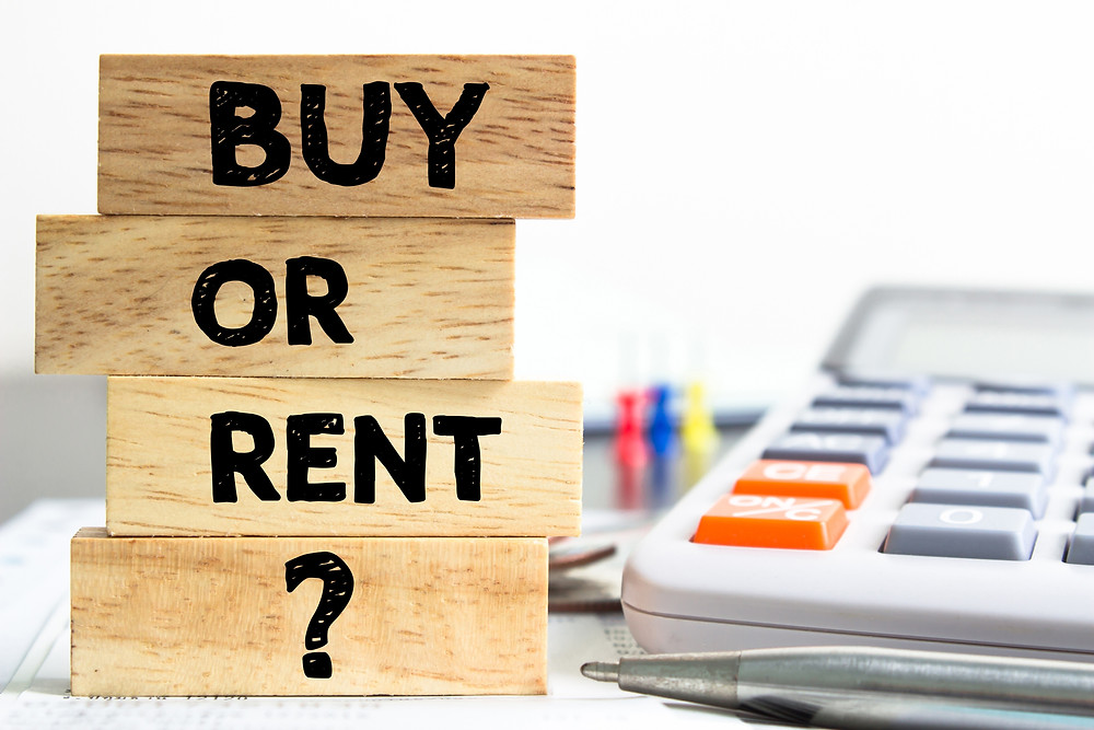 Rentvesting buy or rent image with calculator