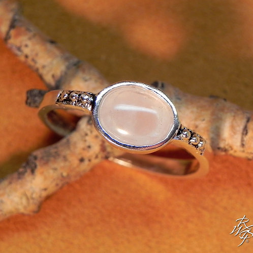 Rose Quartz Band Ring