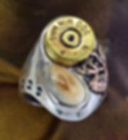 Elk Ivory Jewelry Trophy Rings Spent Cartridge