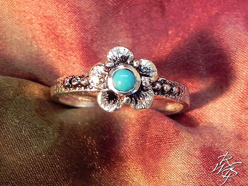 Forget Me Not & Turquoise Ring