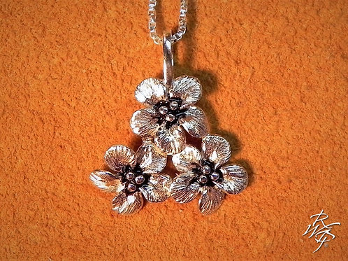 Forget Me Not Cluster Pendant