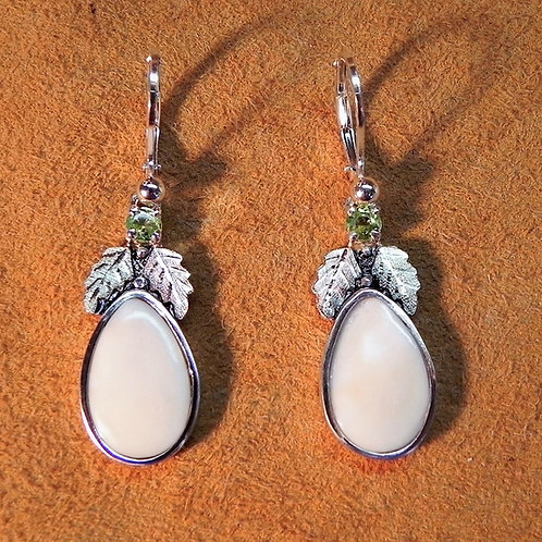 Elk Ivory & BHG & Gemstone Earrings