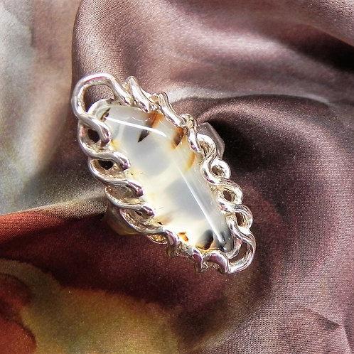 Free Form Montana Agate Ladies Ring