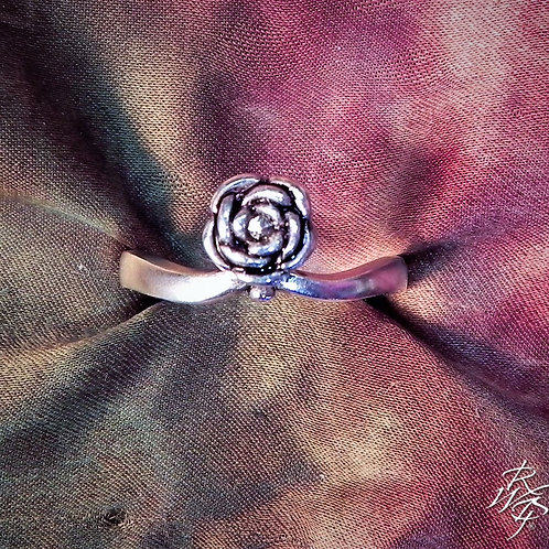Rose Petals with Marcasite  Ring