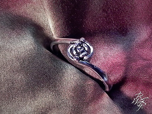 Tiny Rose Bypass Ring