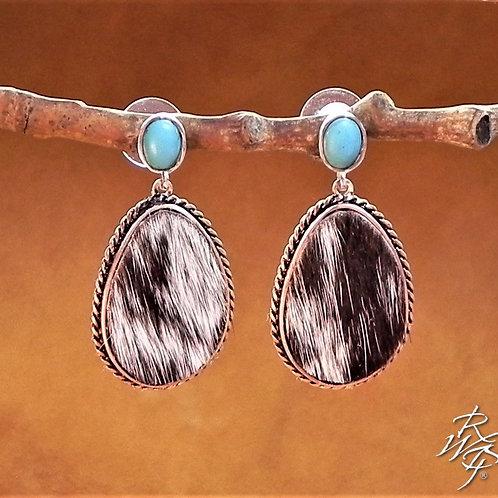 Longhorn Hide Creation Post Earrings