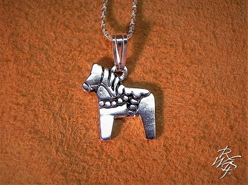 Sterling Silver Dala Horse Pendant