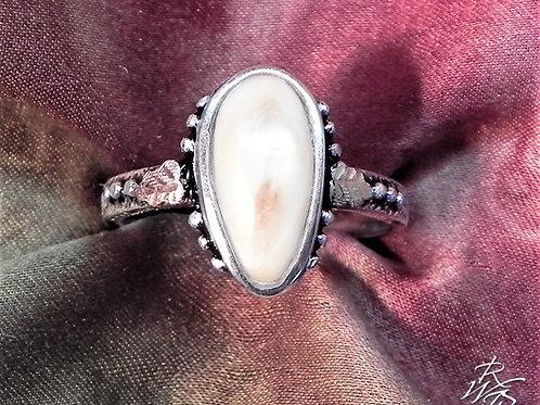 Elk Ivory & Black Hills Gold Ring