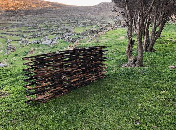ΚΟΙΝΩΝΩ, Les Printemps Silencieux, installation by Claire Laude, Ismael Vilage, 2020.
