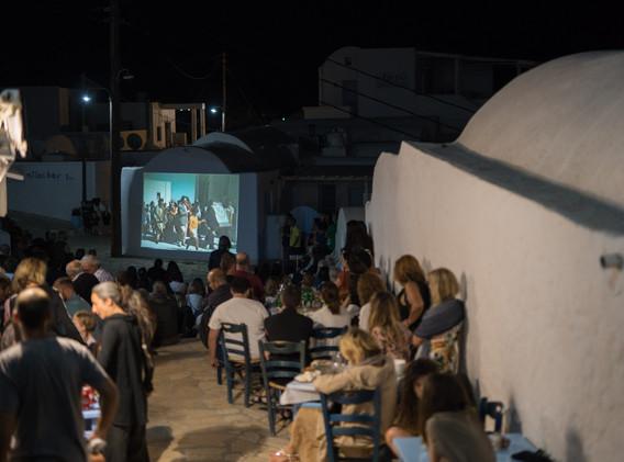 Phenomenon, Video projection of Margaret Kenna's Far from God, Phenomenon 3, Tuesday, July 2, 2019, Anafi. Photo credit: Alexandra Masmanidi