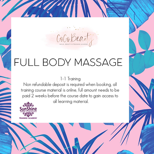 Full Body Massage Course