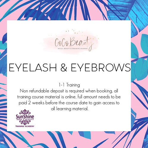 Eyelash & Eyebrow Course