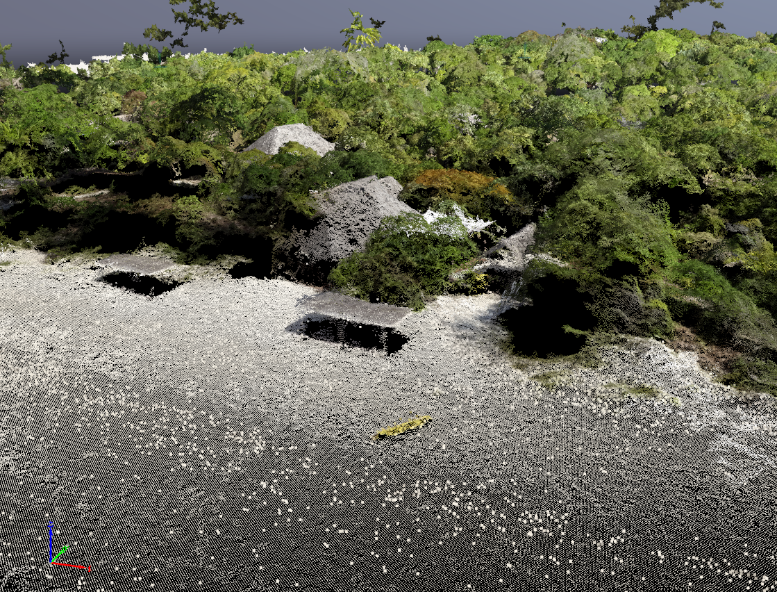Point cloud of private island