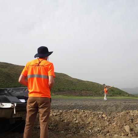 Drone cartographiant un chemin de fer de 375 km en Éthiopie