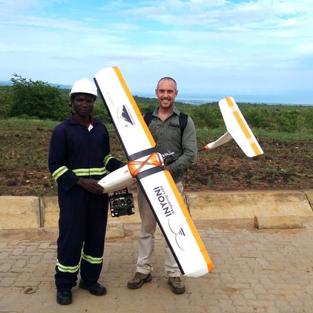 Cartographie des drones près du lac Albert, Ouganda