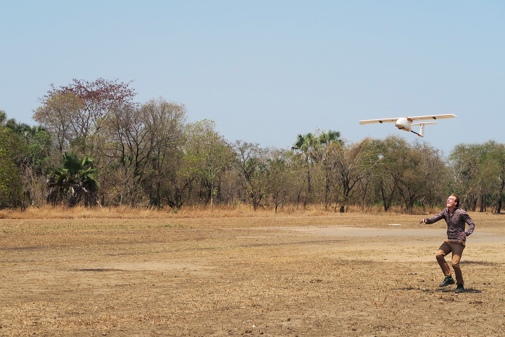 RPAS takeoff in Gorongosa National P