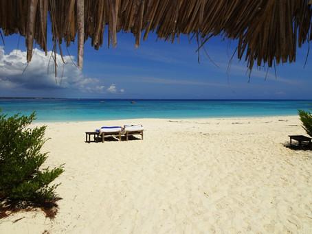 Drone cartographiant une île tropicale privée
