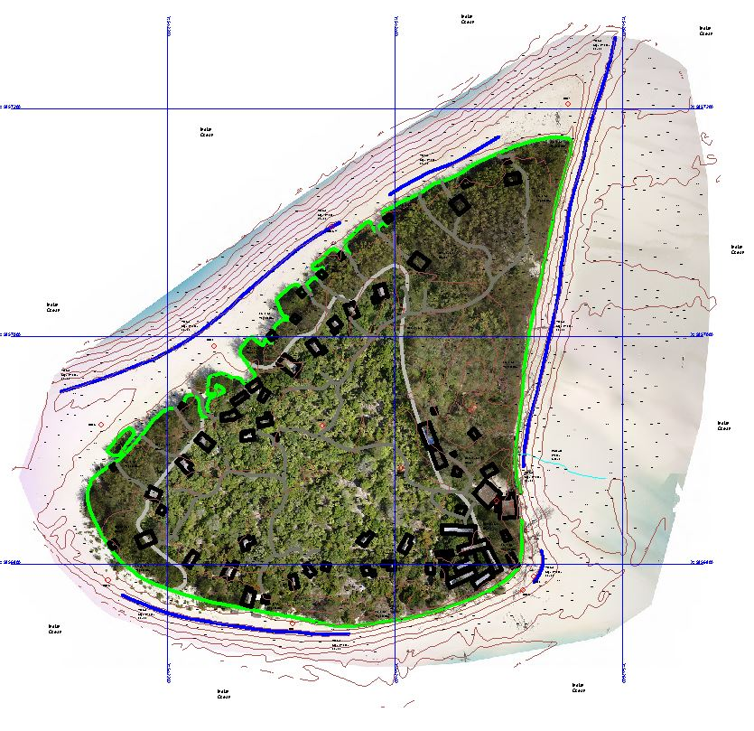 Topographic map from drone survey