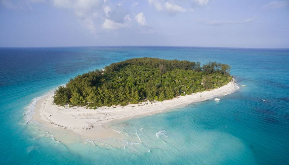 Drone mapping a private island