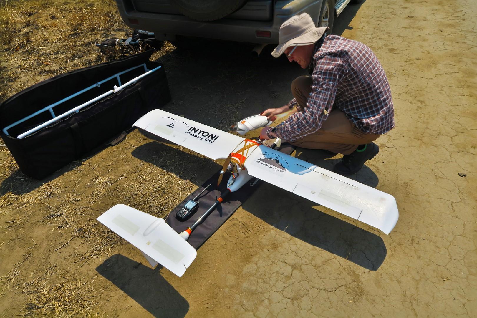 Drone flight preperations