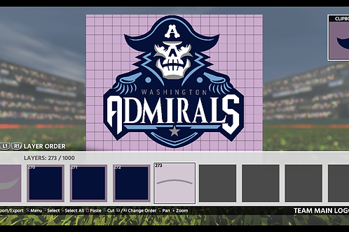 Admirals Logo | (MLB 18, MLB 19)