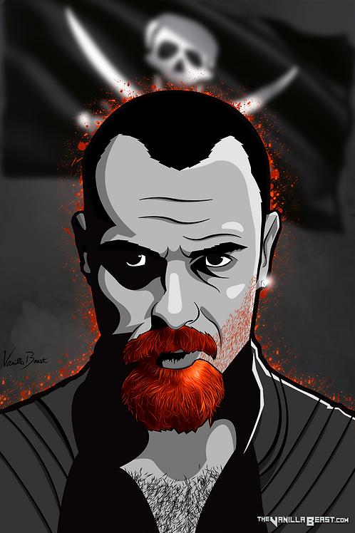 Captain Flint - Red Burning   12x18 Art Print