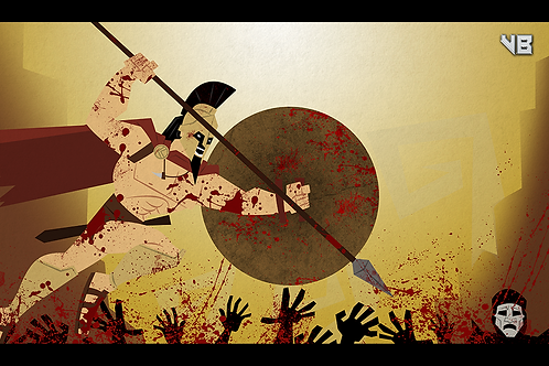 affordable 12x18 art print 300 King Leonidas