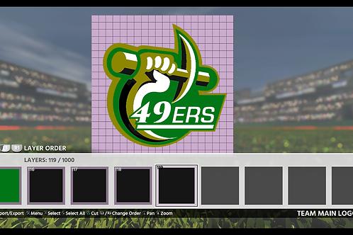 49ers Logo | (MLB 18, MLB 19)