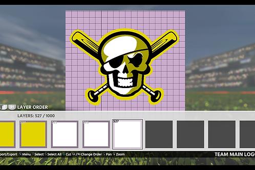 Skull N Bats Logo | (MLB 18, MLB 19)