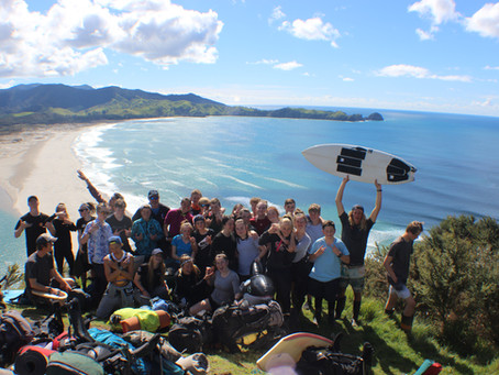 TRIDENT DESCENDS UPON GREAT BARRIER ISLAND!