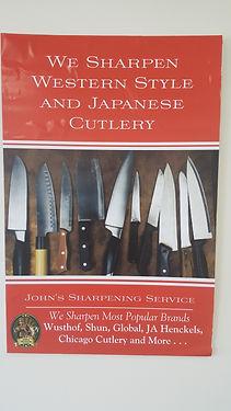 We Sharpen Most Brands of Knives