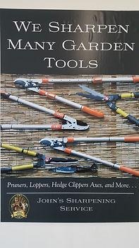 We Sharpen Garden Tools