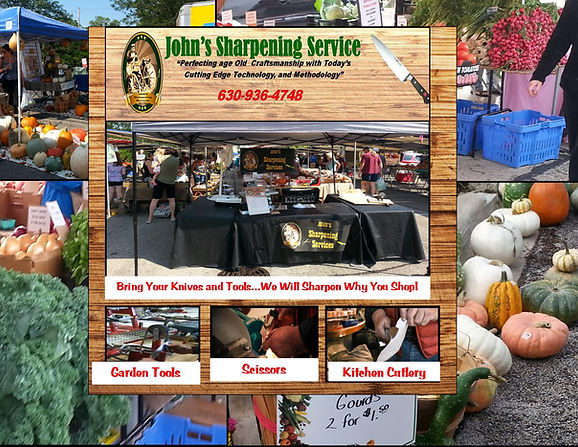 Johns Sharpening at Farmers Market