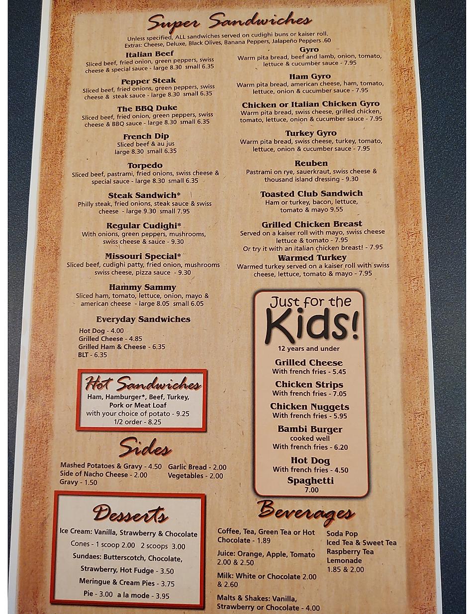 Bucks Restaurant breakfast burgers sandwiches  restaurant menu hours location deals Marquette Now
