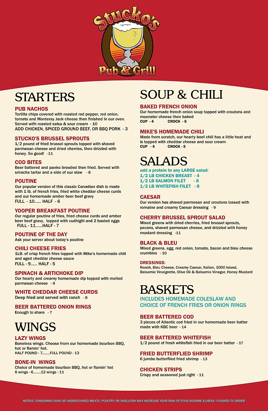 Stuckos restaurant menu wine list hours location deals Marquette Now