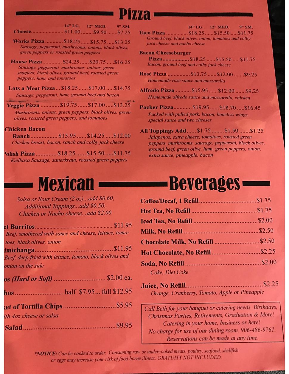 Venice Pub pizza pizzeria restaurant menu list hours location deals Marquette Now