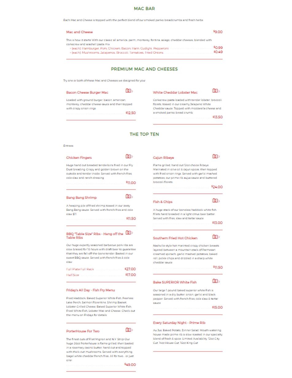 Jerzi's 41 bar and grill restaurant menu wine list hours location deals Marquette Now