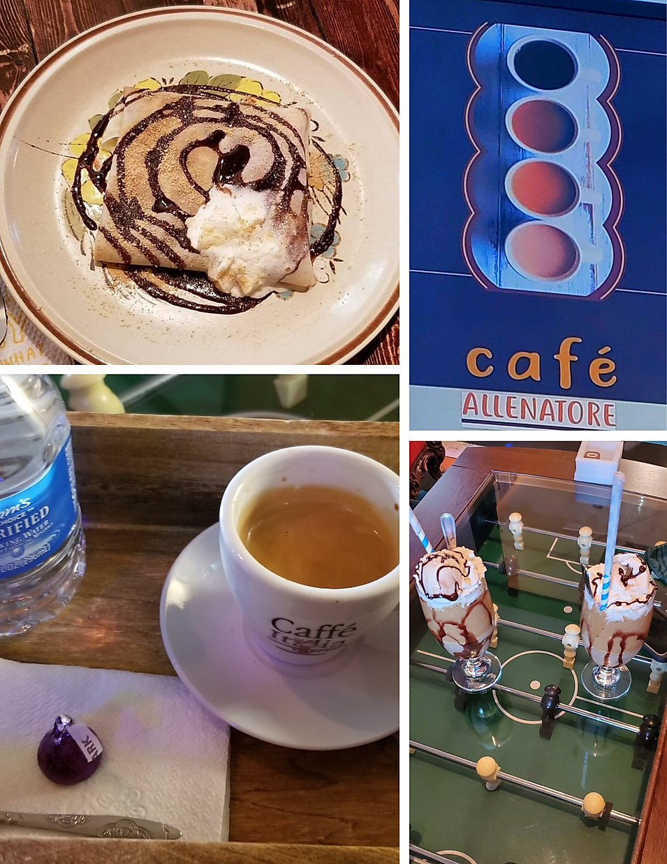 Cafe Allenatore European style coffee espresso latte crepes bar hours beans location deals Marquette Now