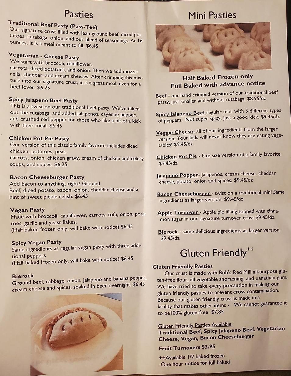Iron town pasties  restaurant menu hours location deals Marquette Now