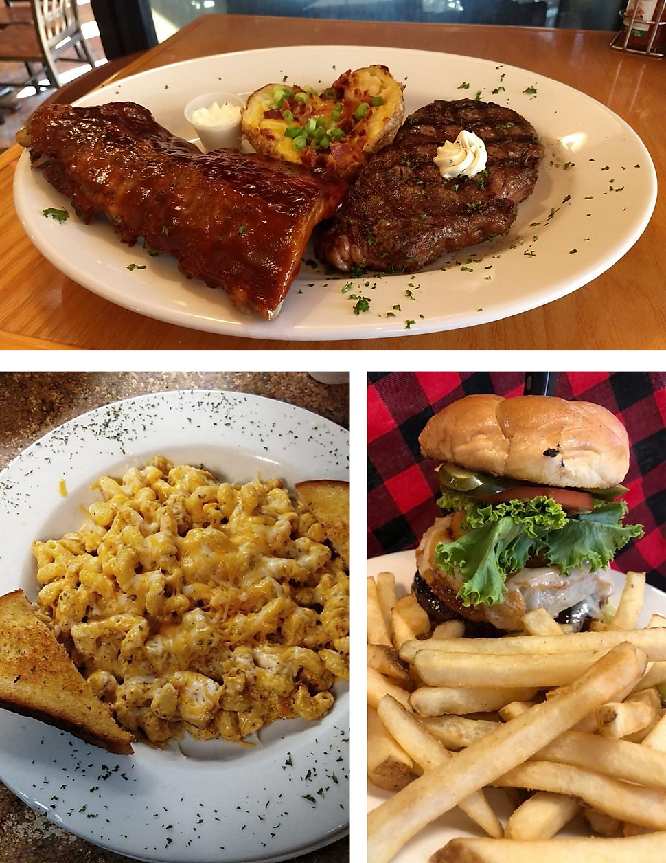 Up North Lodge Ribs salad bar restaurant menu bar wine list hours location deals Marquette Now
