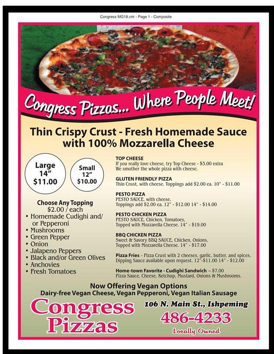 Pasqualis pizza restaurant menu wine list hours location deals Marquette Now