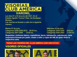 VISORÍAS CLUB AMÉRICA EN MORELOS