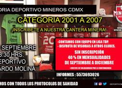 VISORÍAS DEPORTIVO MINEROS EN CDMX