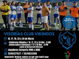 VISORÍAS CLUB VIKINGOS EN CDMX
