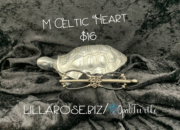 Celtic Heart (leather look) M
