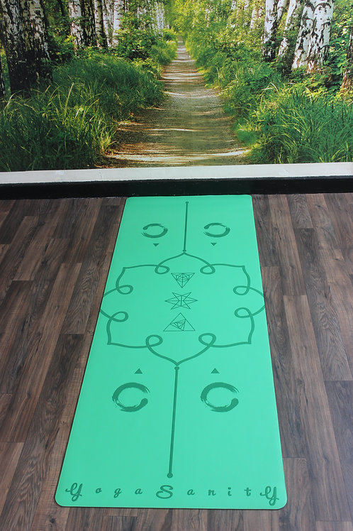 Yogasanity Excercise Mat - PU Natural Rubber Green