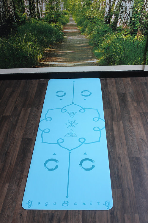 Yogasanity Excercise Mat - PU Natural Rubber Light Blue