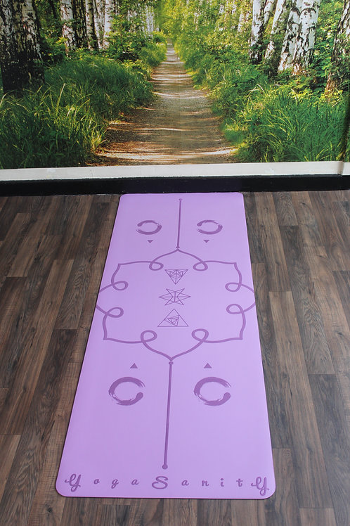 Yogasanity Excercise Mat - PU Natural Rubber Purple
