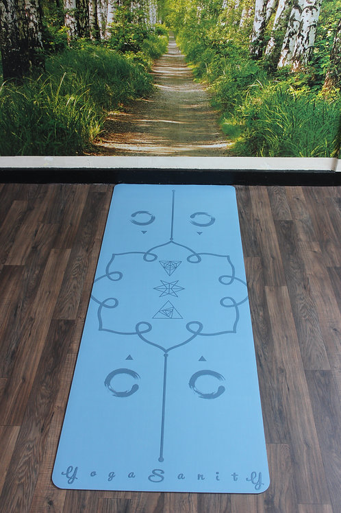 Yogasanity Excercise Mat - PU Natural Rubber Dark Blue