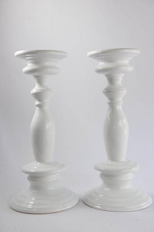 Castiçal Snow Cerâmica - Unid.